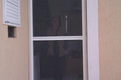 Zsanéros nyíló szúnyogháló ajtó